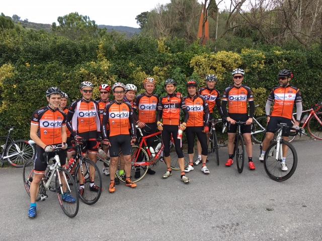 le groupe de cycliste du BVS lors d'un stage à Alenya