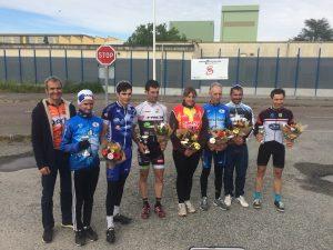 podium FSGT par catégorie du grand prix du muguet organisé par le balma vélo sprint
